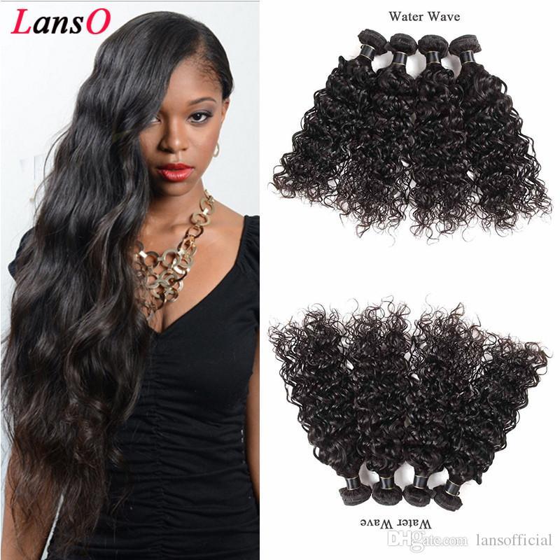 8A Brésil Cheveux Vague de cheveux humains Weave Virgin Bundles Cheveux Brésil Pérou Indien Malaisie Vague Extentions