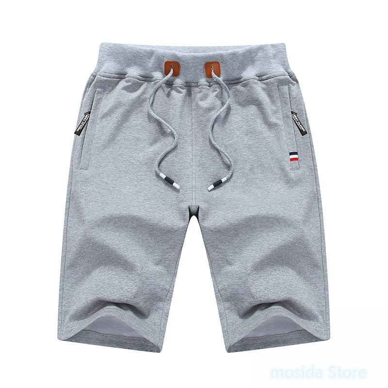 punto de cinco puntos casuales pantalones de deportes de los pantalones cortos de algodón playa de los hombres 10pcs de verano