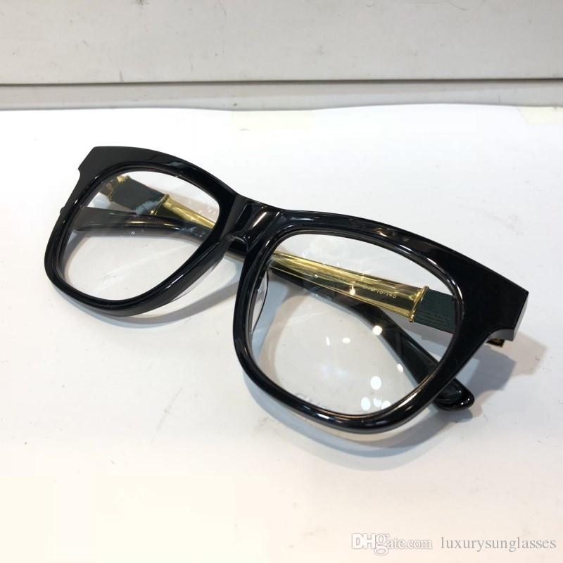 4237 نظارات مصمم على الإطار الرجال الأزياء الشعبية الجوف خارج عدسة بصرية عين القط الأسود الكامل السلحفاة الفضة تأتي مع حزمة 4237S