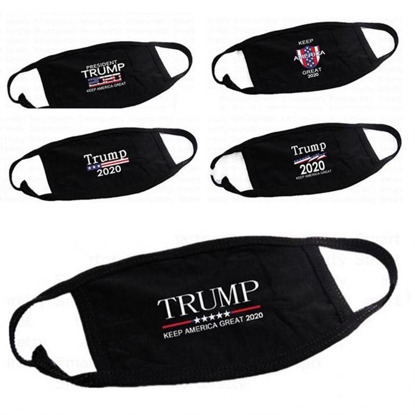 트럼프 얼굴 마스크 먼지 방지면 여성 남성 남여 디자이너 마스크 패션 인쇄 블랙 세척 얼굴 5 개 스타일 FY9122 마스크