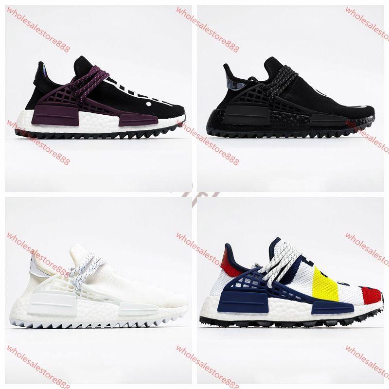 Adidas running shoes Xshfbcl Human Race Großhandel Pharrell Williams Freizeitschuhe Creme x NERD Solar-Pack-Holi Sport Männer Frauen Pharell Runner Racer Sport Sneak