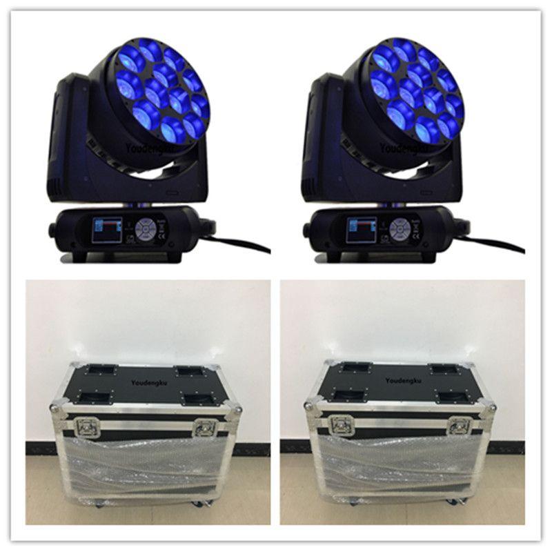 4pcs avec flightcase Big Magic Bee Hawkeye Zoom LED Lavage tête mobile 12x40W RGBW 4in1 poutre à tête mobile LED Stage