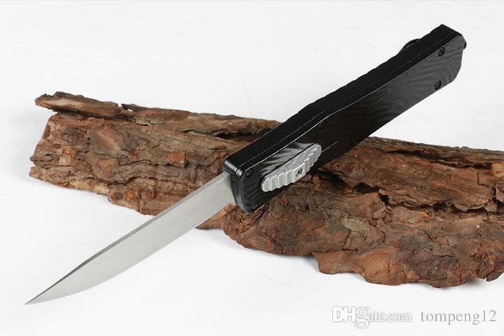 Negro reciente Avenger 2 del regalo del cuchillo de bolsillo 57HRC zinc-aluminio plegable de la supervivencia del cuchillo de caza benhmade de Navidad para los hombres 1pcs freeshipping copias.