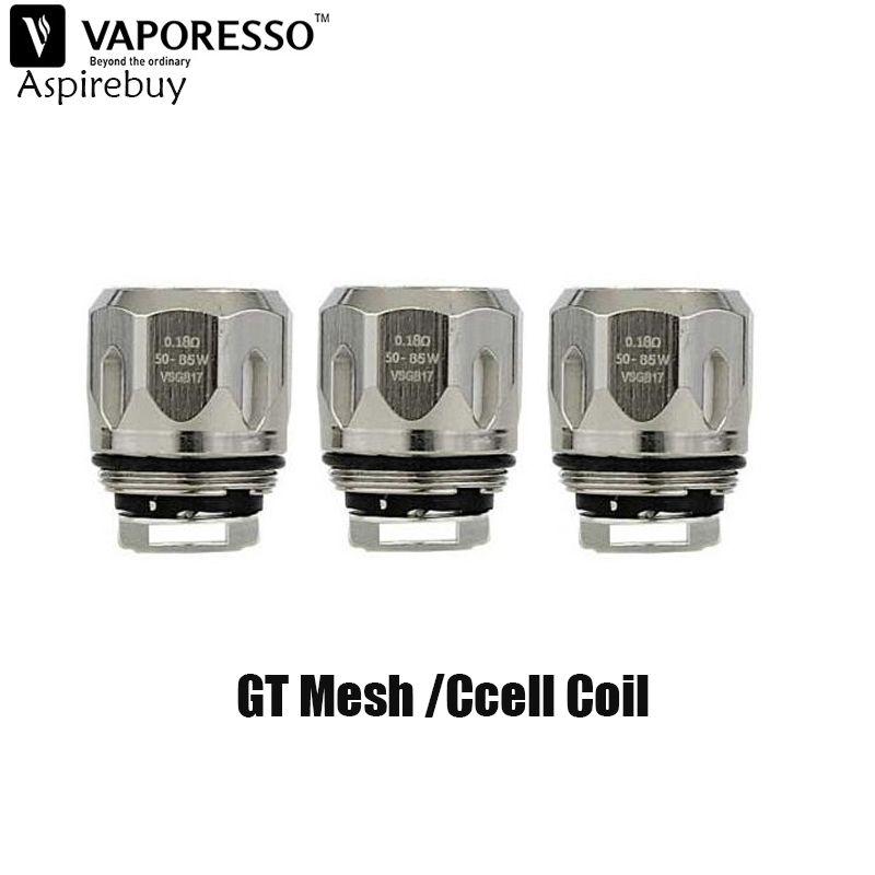 Original Vaporesso GT Mesh Coil 0.18ohm GT CCELL Core 0.5ohm Vaporesso GT CCELL 2 CORE For REVENGER Kit and NRG Tank