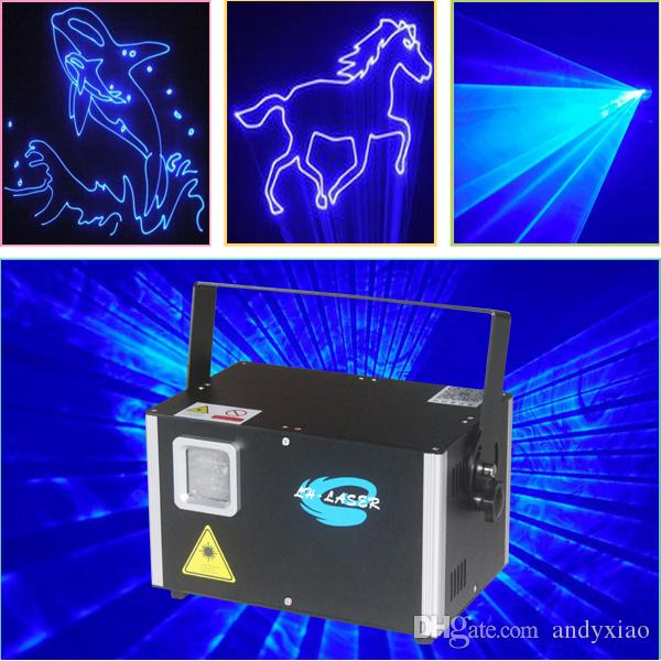 4W Single Blue color animation logo laser lighting DMX512 ILDA Interface Auto Sound show party lights projector
