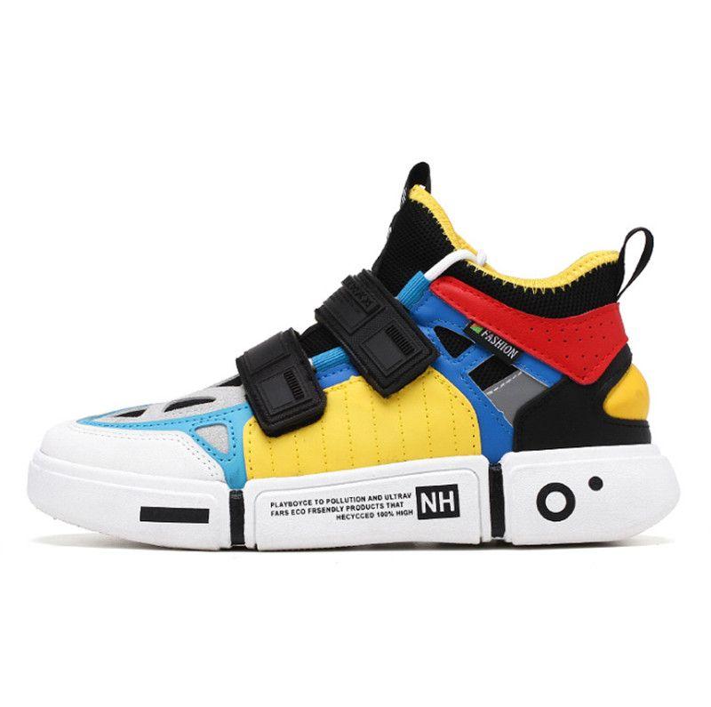 2019 مصمم الأزياء بالجملة الأحذية الثلاثي أحذية رياضية بارد وحيد خياطة أحذية رياضية البرية ثلاثة لون الرجال الجري أحذية في الهواء الطلق