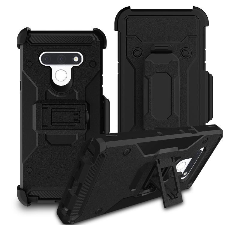 Fälle mit Klipp-Gurt für LG Stylo6 Q7 Stylo 6 4 LG V30 Moto X4 E5 Plus-Holster Stoß- Hybrid harte PC + TPU Heavy Duty Schlag Panzerabdeckteils