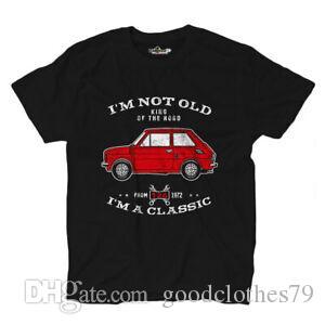 Maglietta T-Shirt-Auto-Klassiker König der Straße Auto Icona Pop Italia 126 Shirts