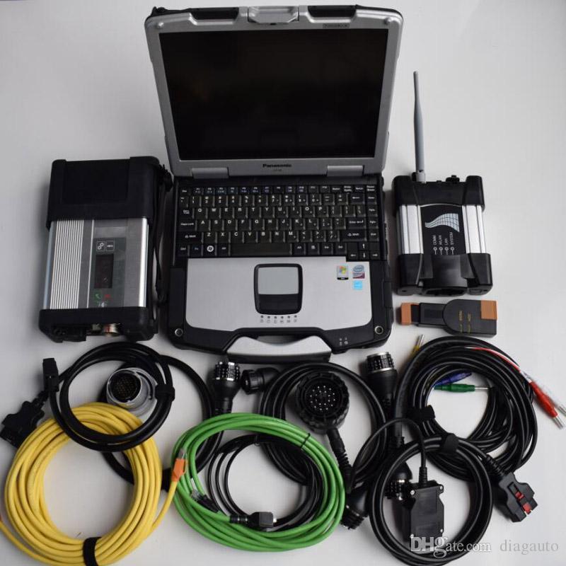 2019 05V pour BMW Icom Wi-Fi Suivant SD Connect C5 MB Start 5 avec ordinateur portable CF-30 CF30 SSD 1 To Logiciel de diagnostic de voiture 2 en 1 installé