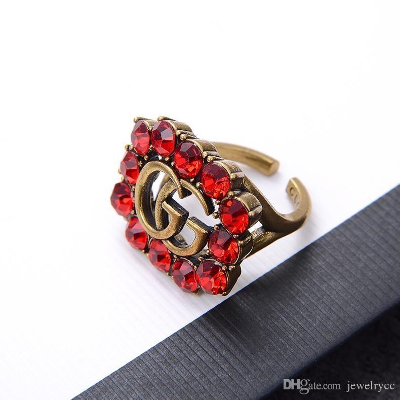 انفجار G الرجعية افتتاح الماس الكامل مصمم مصمم عصابة الفاخرة والمجوهرات النساء خواتم