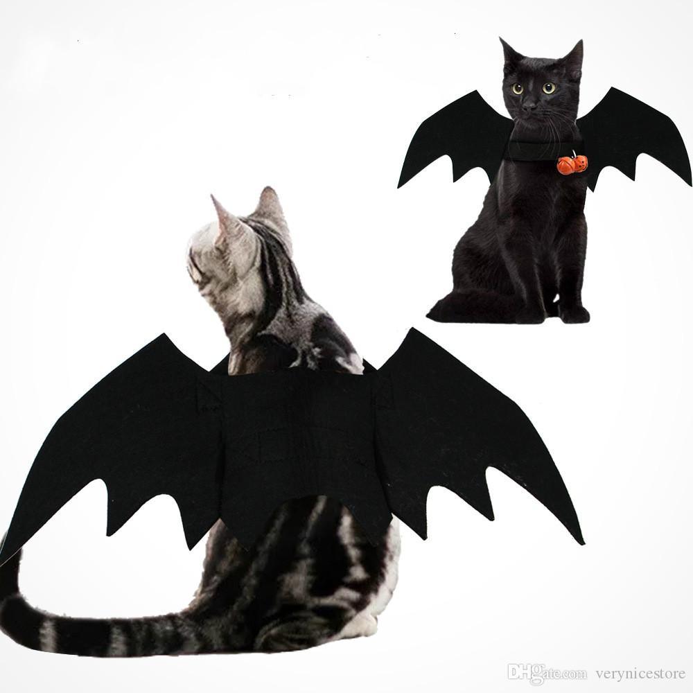 جميل جديد ملابس الحيوانات الأليفة هالوين القط الكلب كلب صغير أجنحة الخفافيش تسخير الصدرية التحول الملابس الحيوانات الأليفة Acessorios