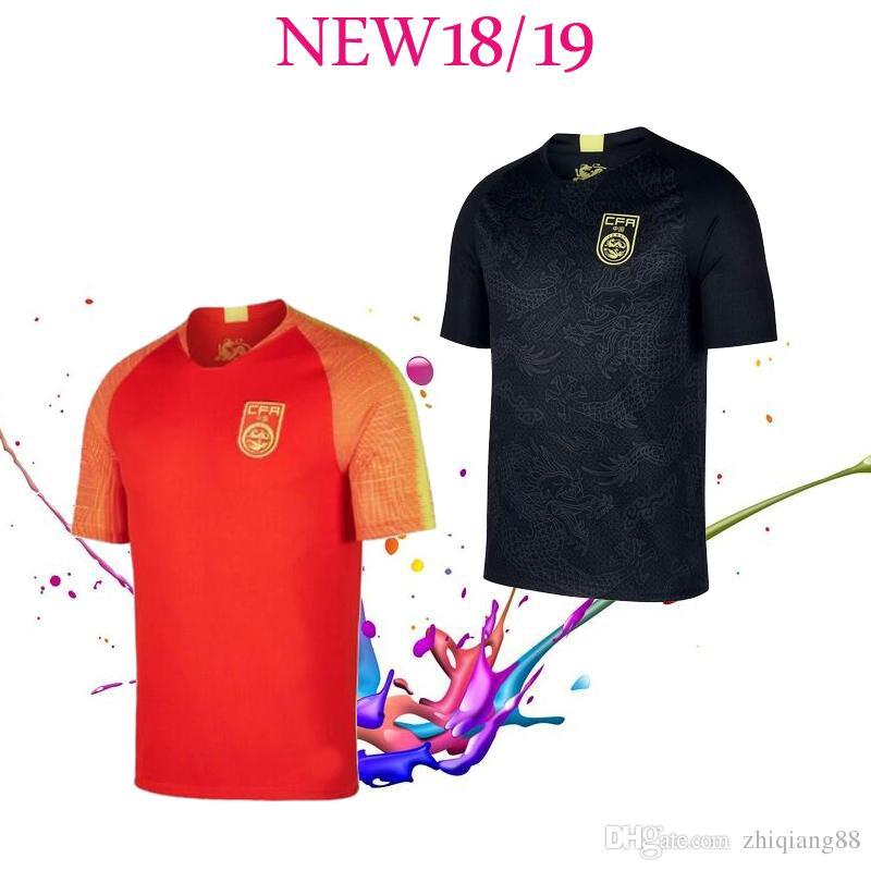2021 2018/19 Chinese Black Dragon Soccer Jersey Black Football ...
