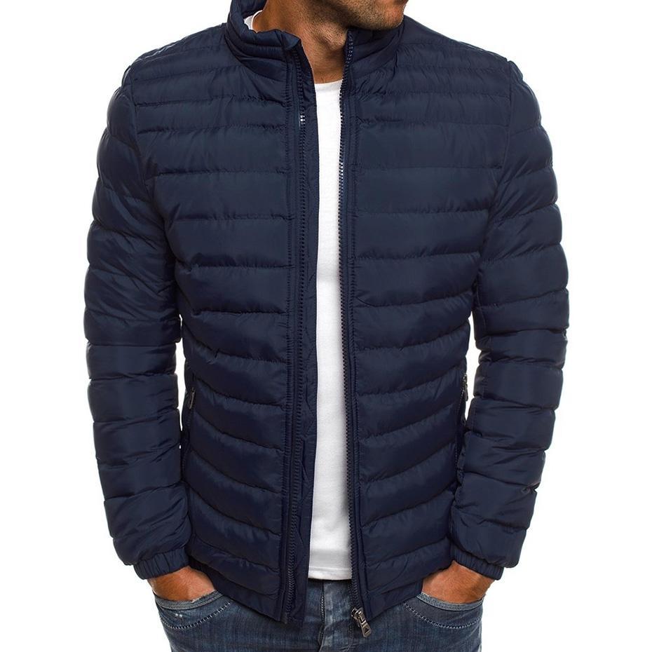 Горячая продажа ZOGAA Мужчины Зимние куртки Chest Изысканный карманный Простой Хем Практические водонепроницаемый молния Высокое качество Parka