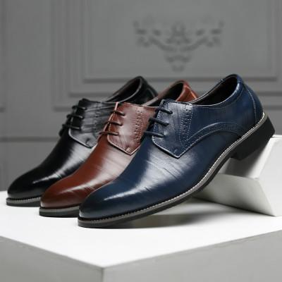 أعلى جودة زائد حجم أحذية رجالي US6 ~ US13 الأعمال اللباس الأعمال الحذاء الكلاسيكية العريس الزفاف حجم 38-48