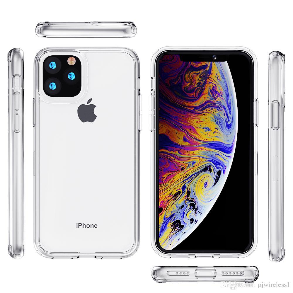 Per iPhone 11 pro max 7/8 più xr xs max cassa del telefono trasparente stylo 5 g stilo A11 TPU acrilico trasparente A