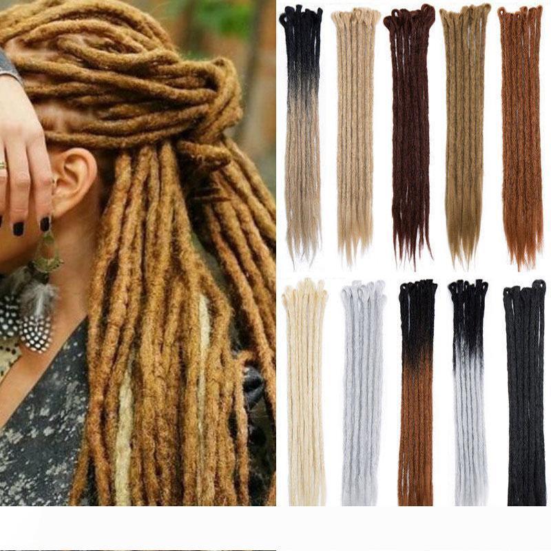 Hot Sale! 5pcs 20inch Handmade Dreadlocks Extensions Reggae Crochet Hip-Hop Synthetic Dreads Crochet Braiding Hair For Fashion Women