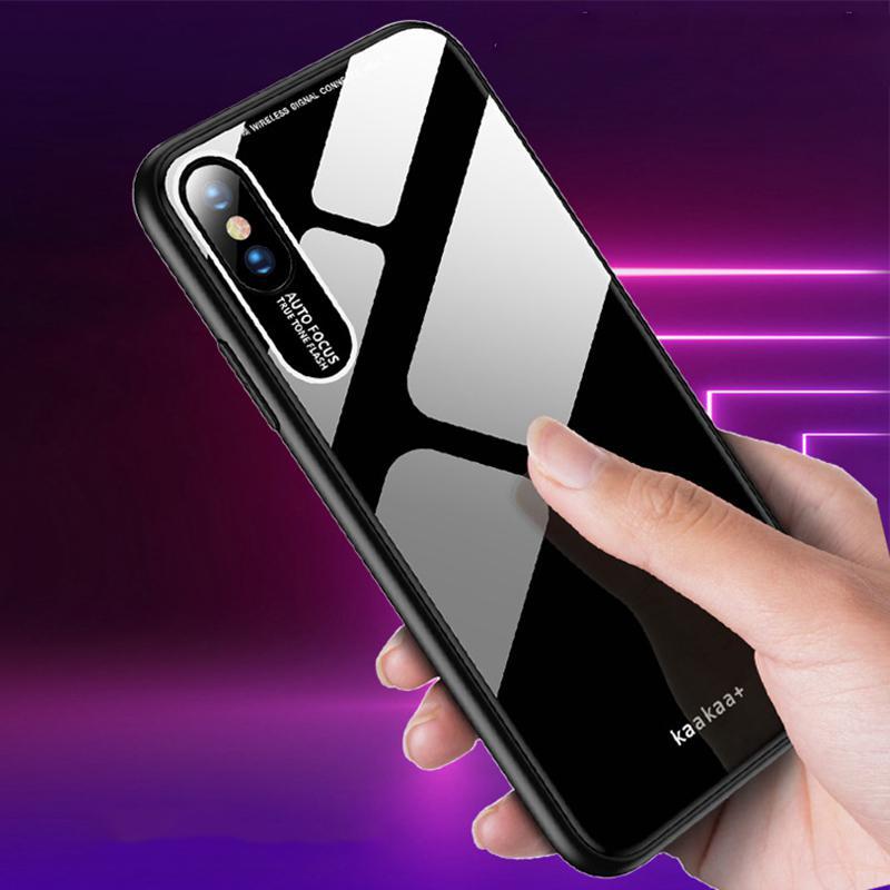 Novo Luxo Acrílico TPU Phone Case superfície lisa tampa do telefone cobertura completa Para Iphone XS XR XS MAX Com OPP BAG DHL