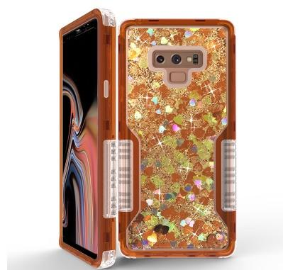 Antichocs liquide luxe Quicksand Téléphone Case Glitter Bling couverture arrière cas de téléphone pour Iphone 11promax 8plus pour Samsung S20P