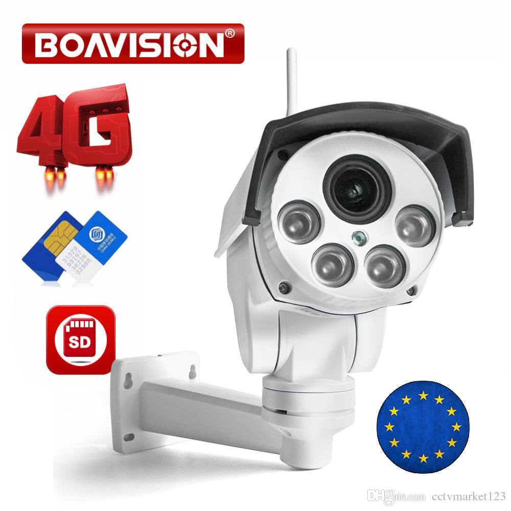 1080P 3G 4G PTZ IP 카메라 Outdoor10X 줌 렌즈 와이파이 SIM 카드 카메라 P2P 지원 SD 카드 저장 와이파이 CCTV 카메라