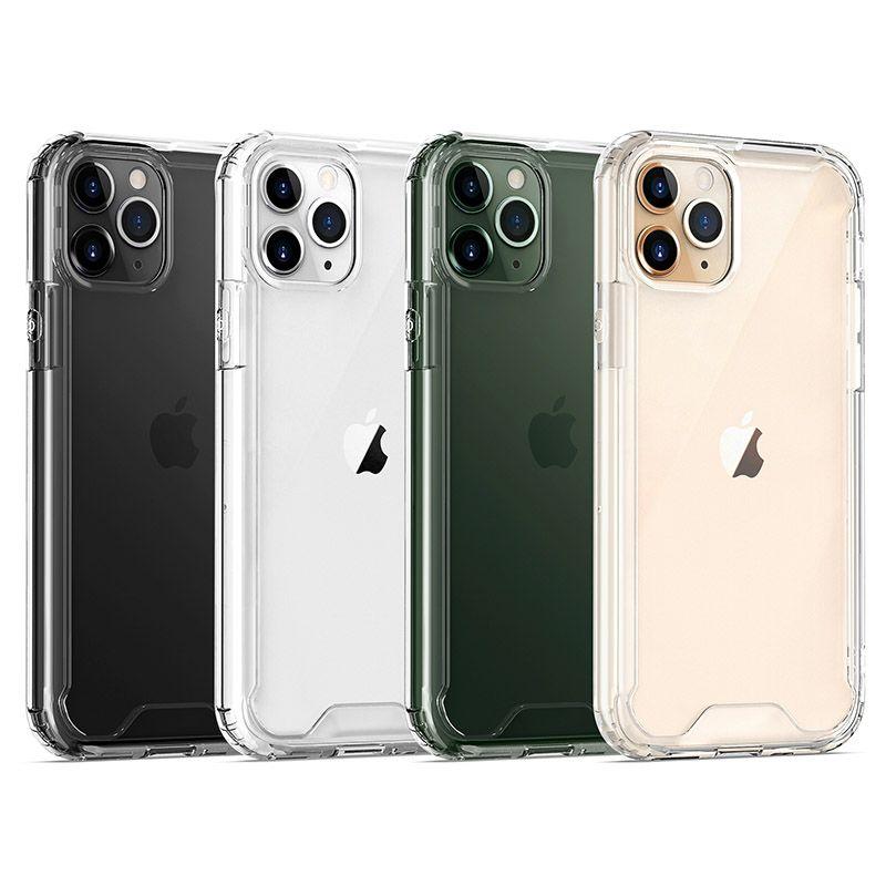 Cassa del telefono acrilico con TPU iPhone per il paraurti 11 Pro Max 8 SE LG Stylo 6 K41S K51 K61 antiurto delle cellule copertura del telefono
