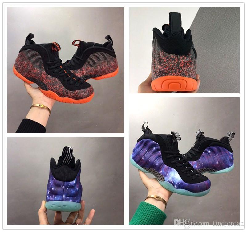 Penny Hada Galaxy Blue Men Zapatos de baloncesto Buena calidad Pro One Lava Negro Naranja Hombres Atlético Deportes Zapatillas deportivas