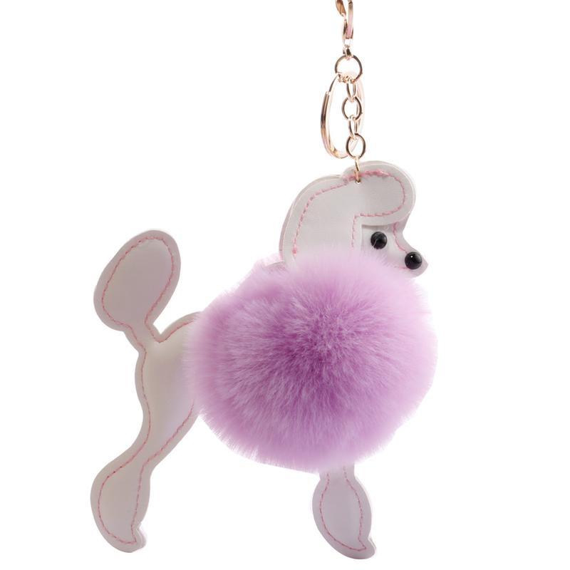Creative Dog Fur Ball Pendant Car Decorative Bag Plush Toys Pendant Craft Jewelry Gifts Animals Nature Plush Small Keychain