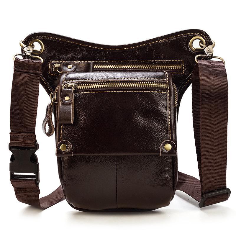 Кожаный ремень мужчины натуральная кожа сумка мужская сумка кошелька Bum leg mtnfq