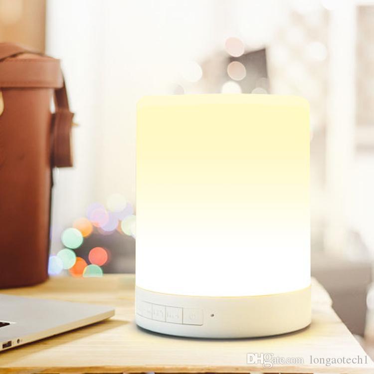 색깔 변화 감지기 스피커 LED 똑똑한 자동적 인 다색 빛을 바꾸는지도 한 일어나십시오 빛 판매를위한 휴대용 무선 활동적인 스피커