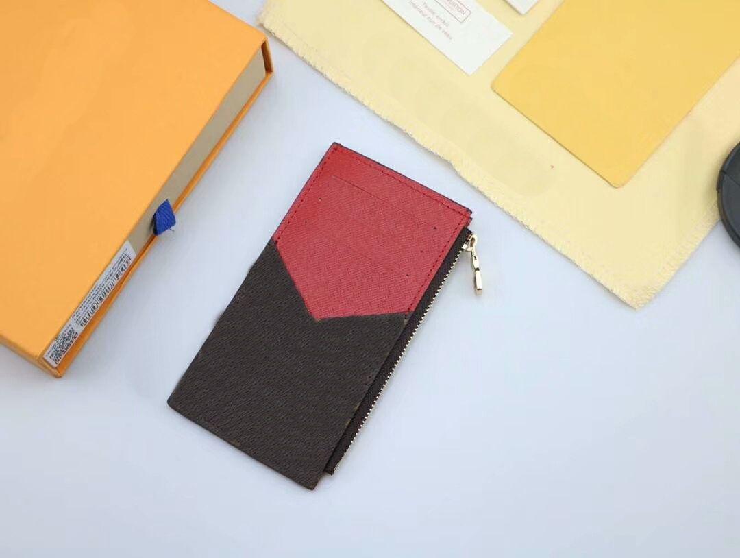 Kutu toz torbaları ile Moda Bayan / Bay Kart Sahibi Kısa Cüzdanlar 14cm Grafit Ünlü Marka Gerçek Deri cüzdanlar C33 8.