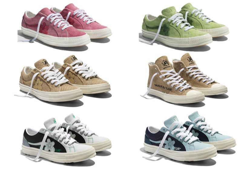 2019 Tyler x One Star Ox golfe sapatilhas do desenhista Le Fleur moda casual sapatos para Skateboarding sapatos de desporto para homens WomenL05
