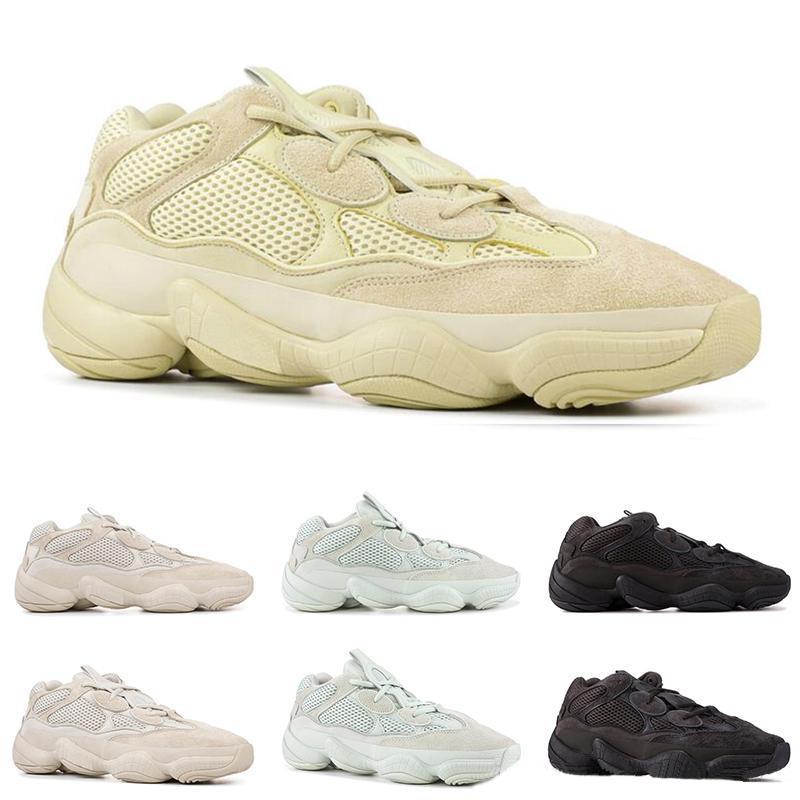 NEW BONE белый Высокое качество 500 кроссовки женщин людей Супер Луна Желтый Полезность Черный Румяна Соль Kanye West Дизайнерские Спортивные кроссовки