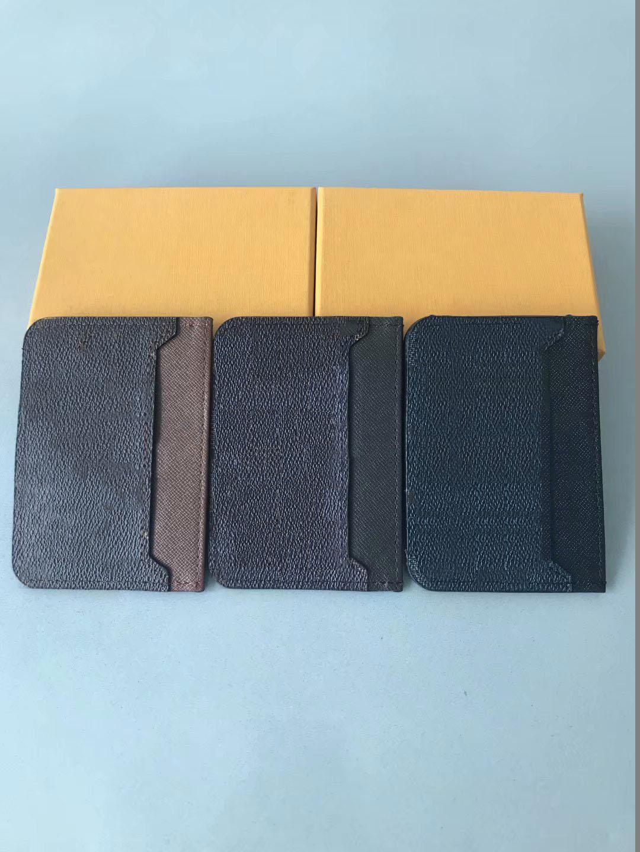kutu ile 2019 Fabrika toptan kalite moda stil klasik erkekler kadınlar hakiki deri kredi kartı sahibi, mini cüzdan Kredi kartı paketi