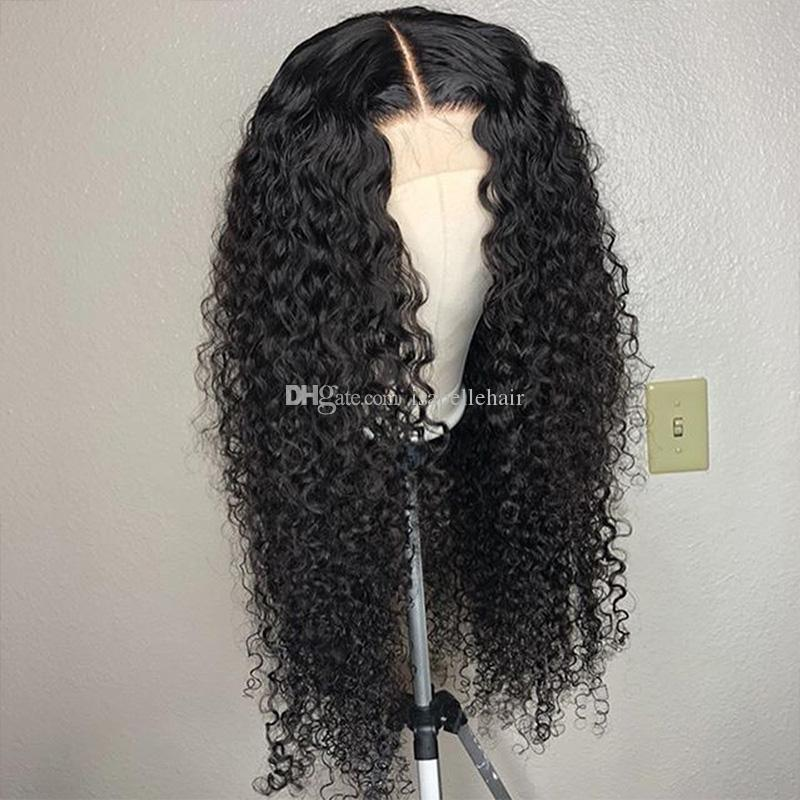 9A préplumée perruques de cheveux humains bouclés avec des cheveux de bébé brésilienne vierge sans colle pleine perruques de dentelle pour les femmes noires devant de la dentelle humaine