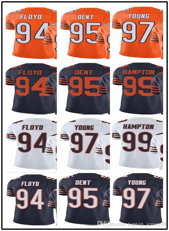2b728dde 2019 2018 Can Custom Men Chicago Bears Jerseys #94 Leonard Floyd 95 Richard  Dent 97 Willie Young 99 Dan Hampton Men Jersey Rugby Clothing From ...