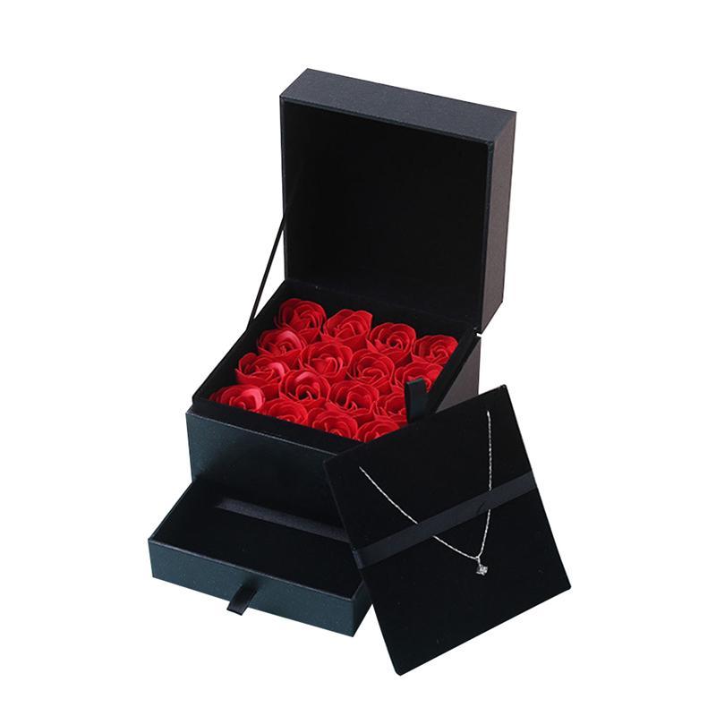 Simülasyon Gül Sabun Çiçek ile Kutusu Düğün Hediyelik Sevgililer Günü Hediye Doğum Güzel Hediye İçin Anne T191111