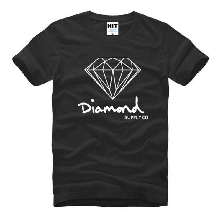 Yeni Yaz Pamuk Erkek T Shirt Moda Kısa kollu Baskılı Elmas Tedarik Co Erkek Tees Paten Marka Hip Hop Spor Giyim Tops