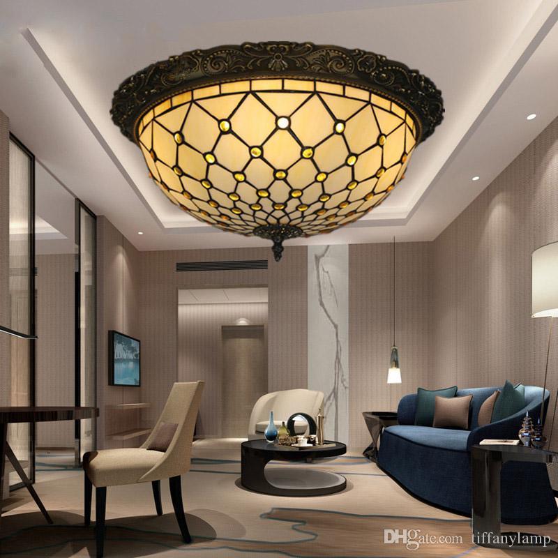 Großhandel Neue Glaskunstlampe Kreative Runde Vintage LED ...