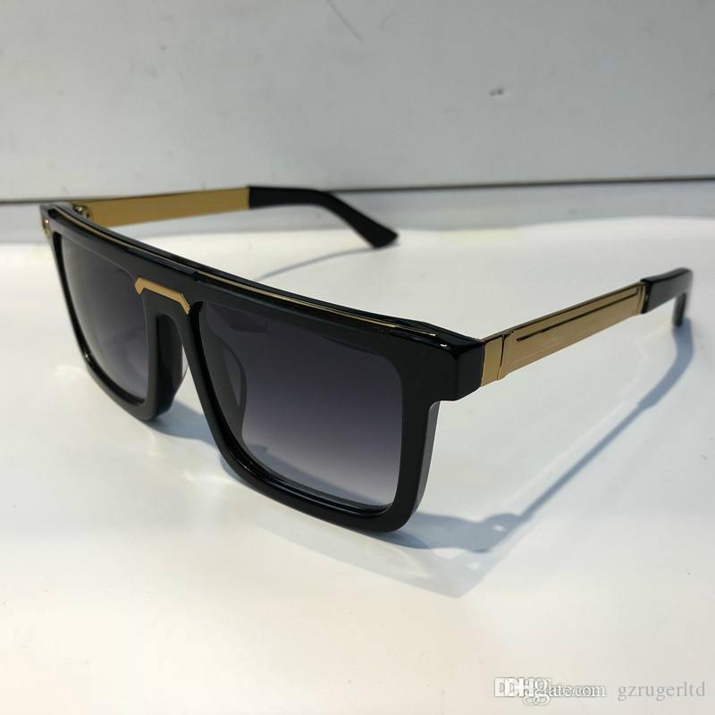 Luxo 0078 Legs Quadro óculos de sol para homens Moda Brand Design moldar quadrado Sunglass UV Protection fibra Lens carbono Estilo Verão Top Quality