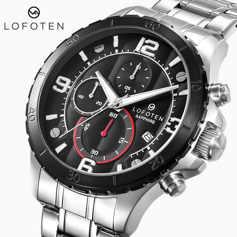 Acciaio inossidabile di lusso OCYSA GOLD GOLD F-6502 Fashion Data Data DATA A PROVA A RESO PROVA DOMENDA DONNA Giapponese Quartz Cronografo orologio orologi orologi da polso