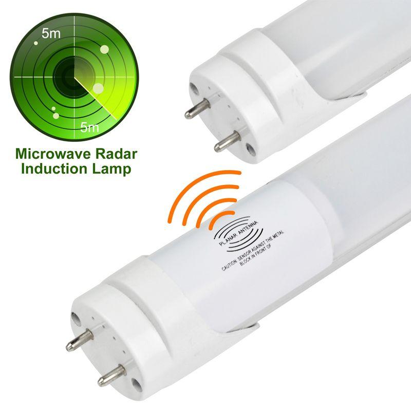 milky cover G13 LED tube radar motion sensor light bulb Radar Motion Sensor LED Tube Light T8 Microwave Sensor shop light lighting fixture