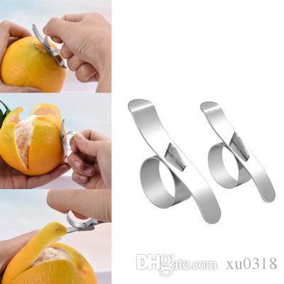 Piel de naranja fáciles de pelar abierto naranja pelador de acero inoxidable de limón Parer Agrios removedor máquina de cortar Peeling Gadgets de cocina