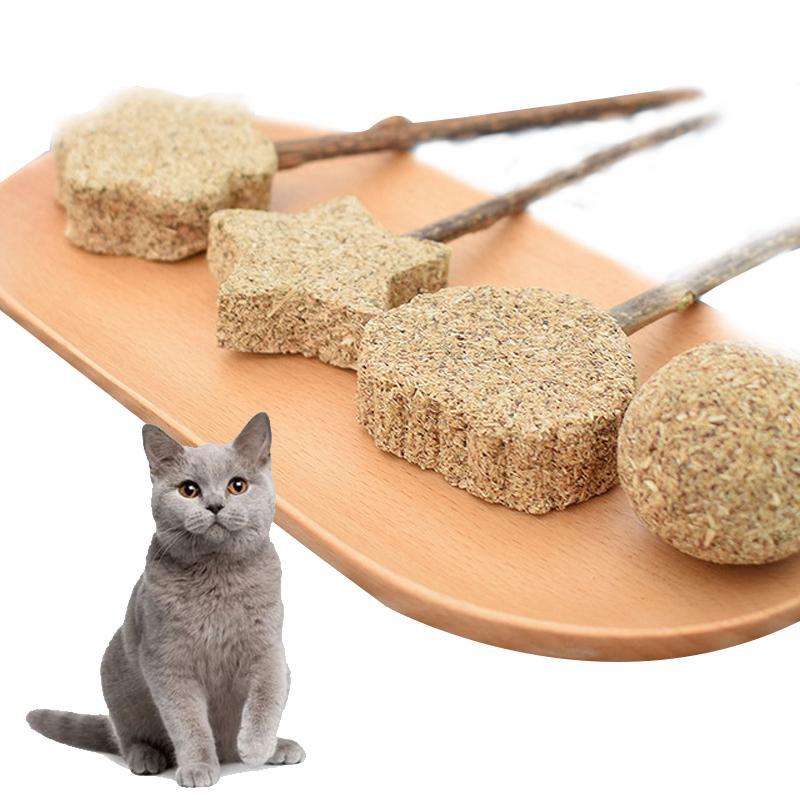 Kedi Oyuncak Kedi Temizleme Diş Nane Topu Matatabi Lolipop Doğal Catnip Molar oynamak Oyuncak Pet Malzemeleri Temizleme Çubuk Diş Chew