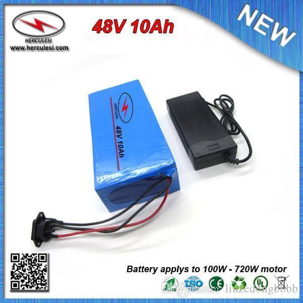 Дешевые цены ПВХ 700 Вт 48 В 10Ah электрический скутер аккумулятор встроенный 18650 элемент 15А BMS + 54,6 В 2A зарядное устройство БЕСПЛАТНАЯ ДОСТАВКА