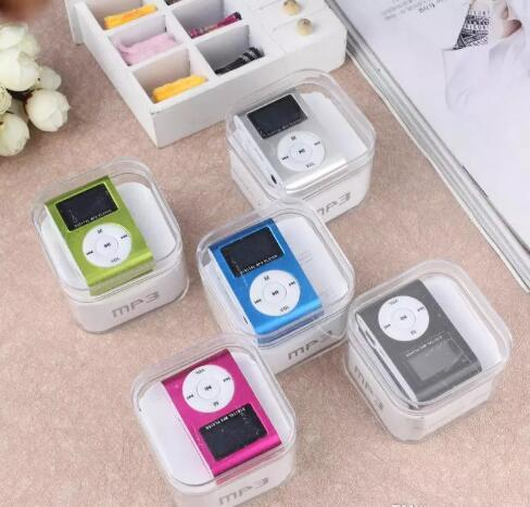 Big Promotion Metal Clip Style Mini MP3 Plugging Card Player Mini Metal Clip MP3 Player(Crystal Box Packed)