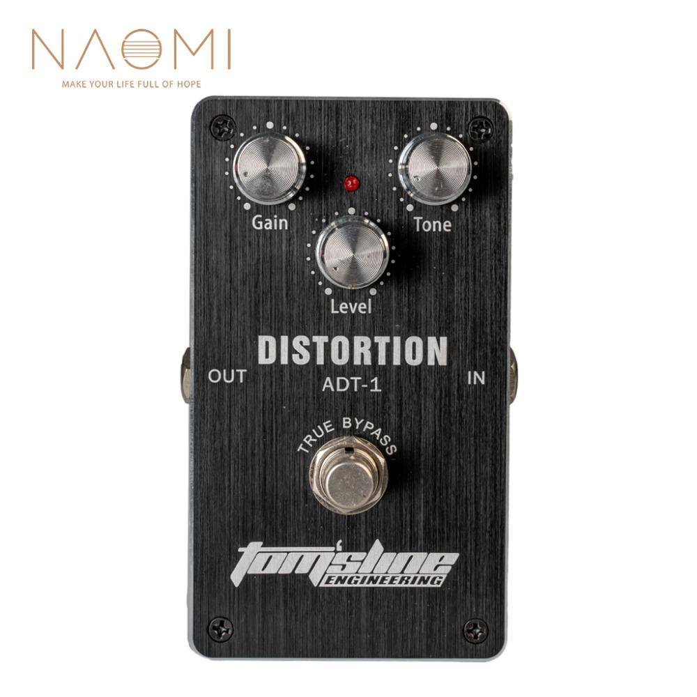 NAOMI Aroma ADT-1 Electric Guitar Effect Pedal Aluminum Alloy True Bypass Design Guitar Pedal Guitar Parts Accessories New