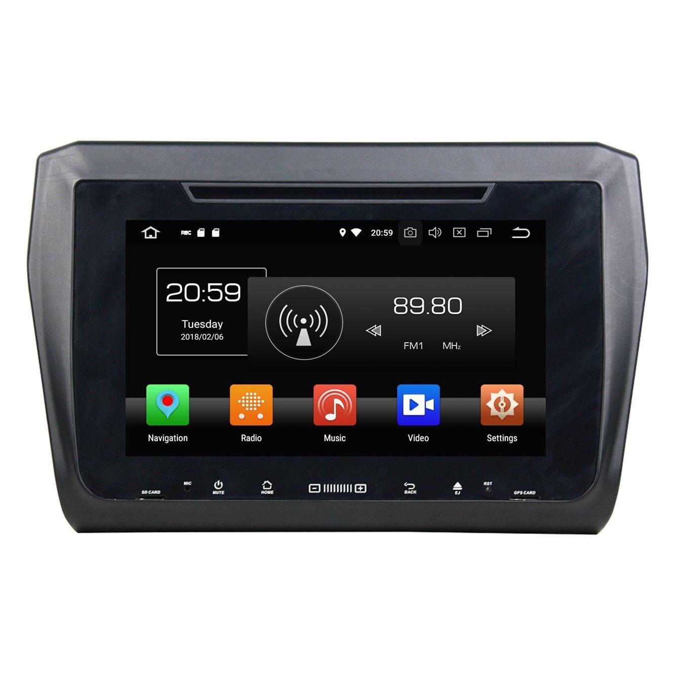 "IPS Screen 4GB+64GB Octa Core 2 din 9"" Android 8.0 Car DVD Player for Suzuki Swift 2017 2018 Stereo RDS Radio GPS Bluetooth WIFI USB DVR"