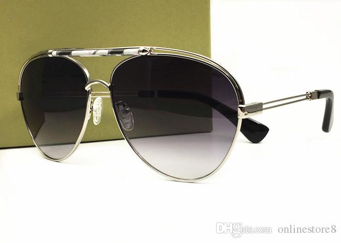 جودة عالية جديد شعار الفاخرة النظارات الشمسية الرجال النساء نمط خمر في الهواء الطلق التصميم الكلاسيكي منقوشة نمط تأتي مع صناديق الأصلي