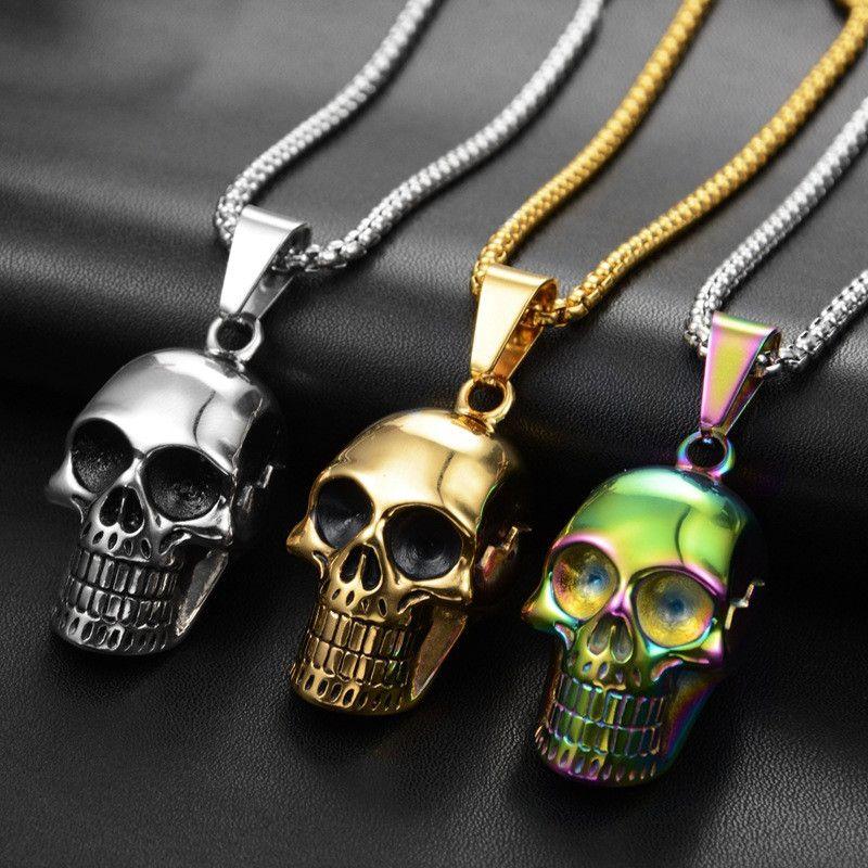 Hip Hop Dazzling Skull collane uomo e ciondoli all'aperto Nightclub Via Dance Party Hipster Must accessori donna