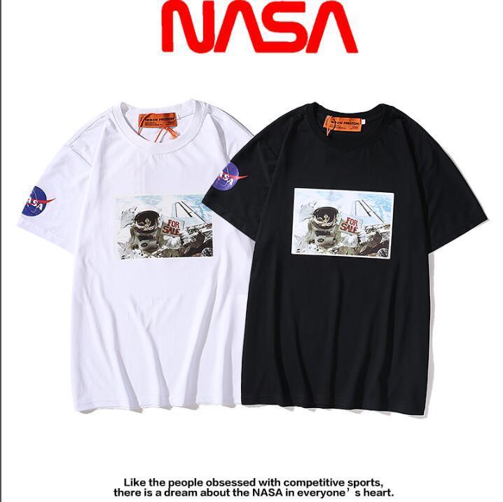 moda unissex Tops verão skate legal T-shirt Homens Mulheres roupas casuais T Cotton moda camisetas Preto unisex branco encabeça Q7