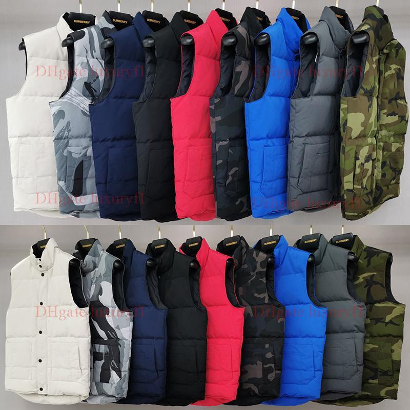 고품질의 프랑스 남자 겨울 다운 전술 조끼 클래식 깃털 Weskit 재킷 캐주얼 조끼 코트 북한 복어 Doudoune 옴므 유럽 연합 (EU) 크기 XS-2XL